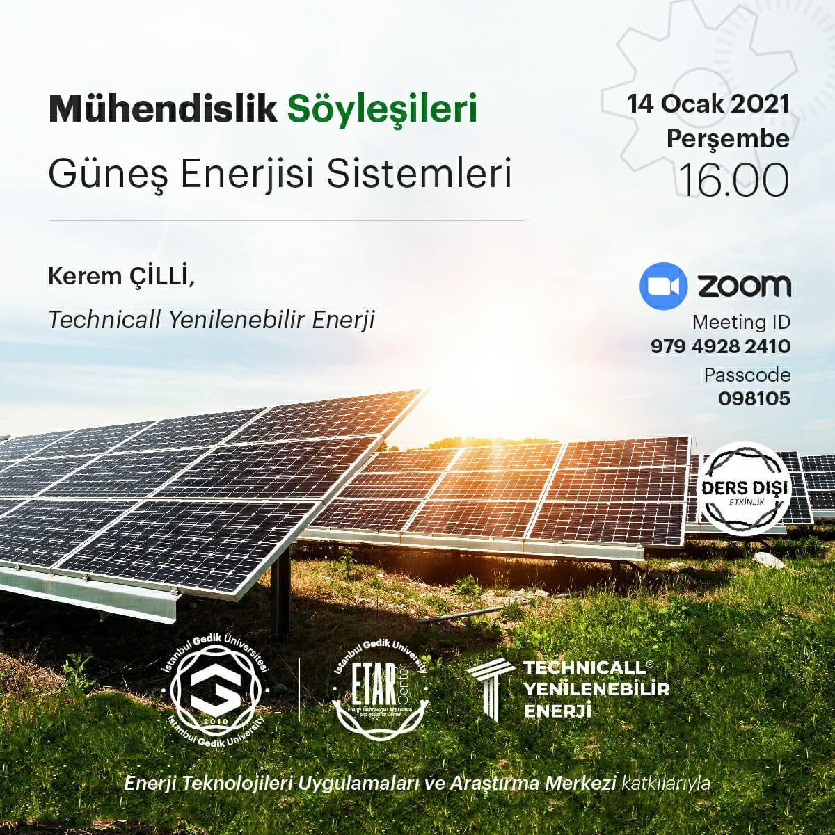 kerem çilli güneş enerjisi seminer gedik üniversitesi